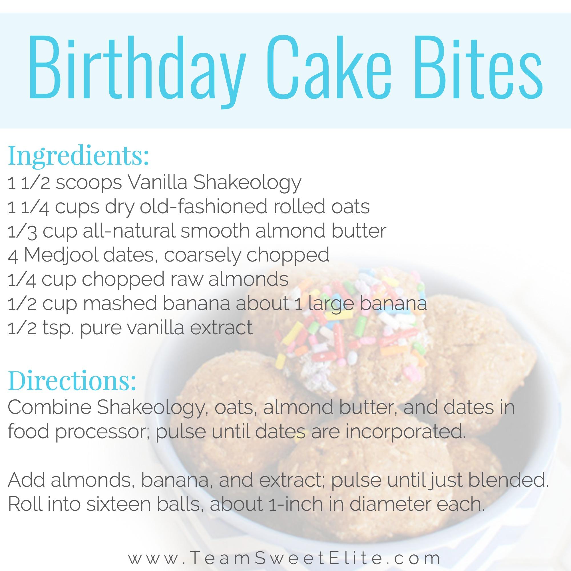 Shakeology Recipe Birthday Cake Energy Balls Team Sweet Elite